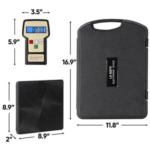 Refrigerant Digital Electronic Charging Weight Scale 220 Lbs For Hvac With Case
