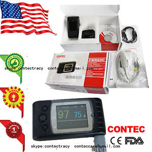 Us Handheld Pulse Oximeter Finger Tip Pulse Blood Oxygen Spo2 Pr Monitor Led fda