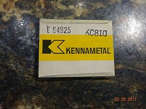 Kennametal Kc810 Carbide Inserts New