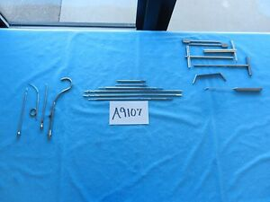 Howmedica Medtronic Smith Nephew Shutt Drills Reamers Suture Hooks Qty 17
