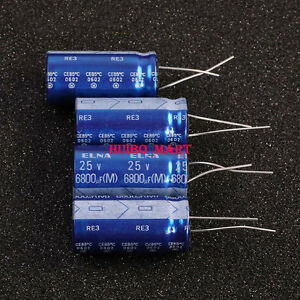 Elna Japan 25v 6800uf Re3 Audio Grade Electrolytic Capacitors 10pcs 20pcs 50pcs