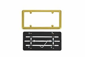 Front Bumper License Plate Tag Bracket Gold Frame For Lincoln Free Shipping