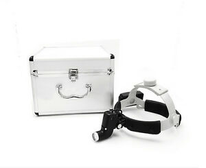 Dental Led Surgical Headlight Dy 006 Leather Headband aluminum Box Ent Specific