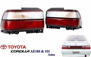 New 91 95 Toyota Ae100 Ae101 Corolla E100 Sedan Rear Kouki Tail Lamp Lights Pair