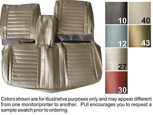 1967 Oldsmobile Cutlass Holiday Supreme Front Rear Seat Covers Pui