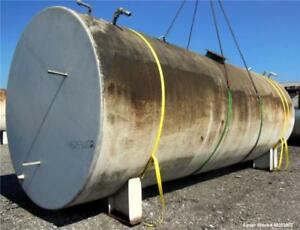 Used Tank 15 000 Gallon Carbon Steel Horizontal Approximate 120 Diameter X