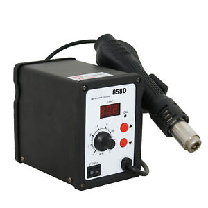858d 110v Led Hot Air Gun Rework Station Nozzles Solder Blower Desoldering Tool