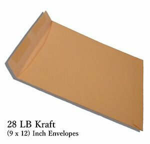 250 Pack Of 9 X 12 inch Standard Office Paper Size 28 Lb Kraft Manila Envelopes