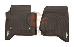 2015 2020 Tahoe Suburban Genuine Gm Front All Weather Floor Mats Cocoa 23452759