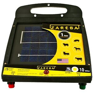 Brand New Zareba Esp10m z 10 mile Solar Low Impedance Fence Charger