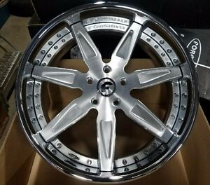 22 Forgiato Esporre Satin Staggered 2 piece Wheels 5x130 Porsche Panamera