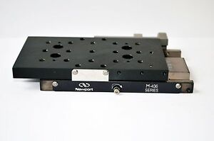 Newport M 436 Low profile Crossed roller Bearing Linear Stage 50 8 Mm M6