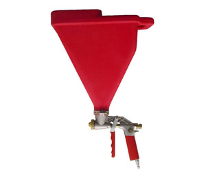 Drywall Texture Sprayer Hopper Gun 3 Spray Tips For Different Patterns Stucco