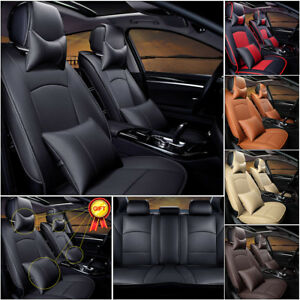Us Truck Seat Covers For Ford F 150 2010 2018 Pu Leather Front rear Cushions Set