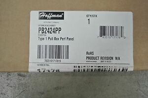 Hoffman Pb2424pp 24 X 24 Pull Box Perforated Panel New In Box