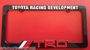 Trd Toyota Racing Development License Plate Frame Black Red White New