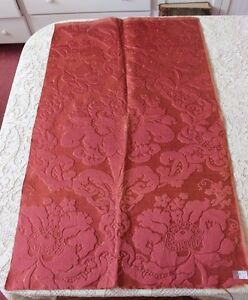 French Antique C1860 1870 Silk Brocatelle Fabric Frame Home Dec L 38 X W 23