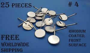 Dental Examination Mouth Mirrors Front Surface Rhodium Coated 25 Pieces
