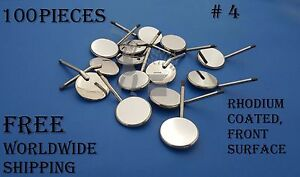 Dental Mouth Mirrors Front Surface 4 Rhodium Coated Dentist Instruments 100 Pc