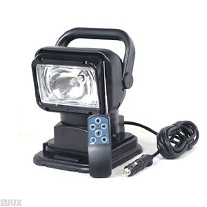 35w Hid Spot Rotating Remote Search Light Marine Boat Camping Black