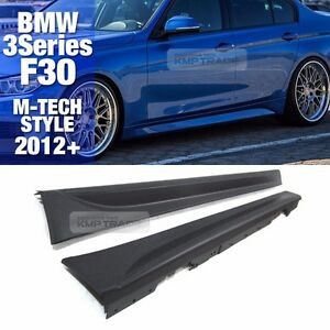 M Tech Style Side Skirts Body Kit Trim Splitter For Bmw 2012 17 3 Series F30 4dr
