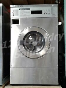Maytag Front Load Washer Coin Op 25lb Mfr25pdavs 3ph Stainless Steel Finish Used