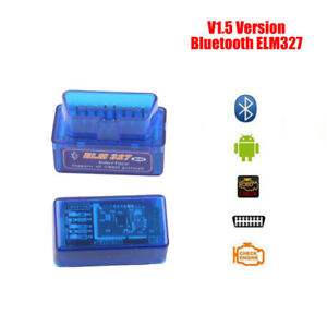 Elm327 Bluetooth Obd2 Interface Diagnostic Tool Code Reader V1 5 For Android