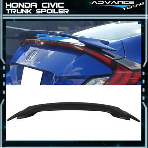 16 18 Honda Civic X 10th Gen 2dr Coupe Oe Style Trunk Spoiler Abs