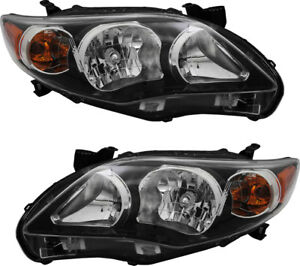 Headlights Assembly Pair Set For 2011 2012 2013 Toyota Corolla Xrs S usa Built