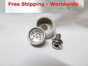 Genuine Original Jdm Japanese Japan Rear License Plate Bolt Seal Cover