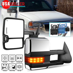 For 99 07 Ford F250 f550 Super Duty Power Heated Turn Light Pair Tow Mirrors