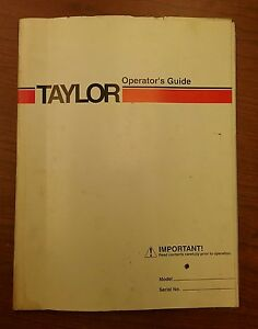 Taylor Forklift Operator s Guide Thc 400l