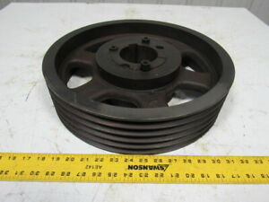 5 5v16 0 3535 5 Groove 13 Sheave Pulley W 3 3 8 Bushing 1600 Rpm Max