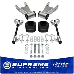 For 84 01 Jeep Cherokee Xj 3 2 Rear Shackles Level Lift Kit Coil Compressor
