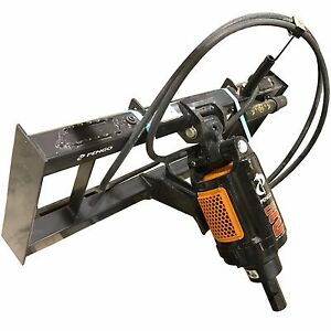 Pengo Cs 2 Hydraulic Skidsteer Auger Attachment Mount Auger And Hoses