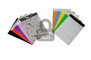 1 1000 10x13 Designer And Colored Poly Mailers Mailing Bags Rainbow 10 X 13