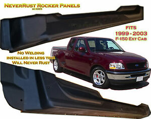 Ford Truck F150 Extended Cab Rocker Panel Set By Neverrust Fits 4door 99 03