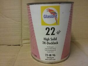 Glasurit 22 Line 22 m96 1 Litre Hs Solid Colour Tinter Basf Mixing Tinter