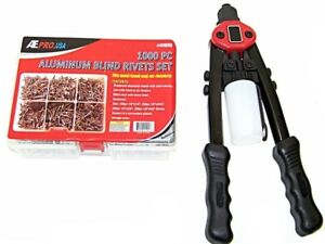 5 In 1 H d Hand Riveter Pop Gun 1 8 5 32 3 16 7 32 1 4 With 1000 Rivets Kit