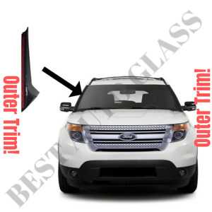 2011 19 Ford Explorer Windshield outer Trim Pillar Molding Passenger Right Side