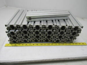 80 20 T slot Aluminum Extrusion Smooth Surface 1 1 2 X 3 X 11 Lot Of 25