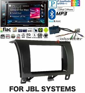 Pioneer Double Din Dvd Cd Player Radio Bluetooth Dash Install Kit Harness Usb