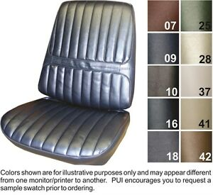 1971 72 Oldsmobile Cutlass Supreme Front Seat Covers Pui