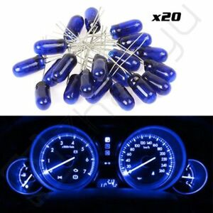 20x Blue 4 7mini Incandescent Bulbs For Instrument Dash Panel Cluster Light