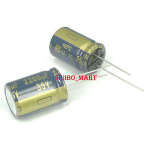 Panasonic 2200uf 35v Fc Audio Grade Electrolytic Capacitors 50 Pcs 100 Pcs