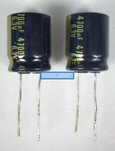 Panasonic 4700uf 6 3v Audio Grade Electrolytic Capacitors 50 Pcs 100 Pcs