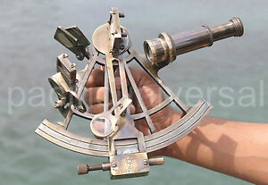 Vintage Heavy Marine Working Sextant Astrolabe Solid Collectible Maritime Item