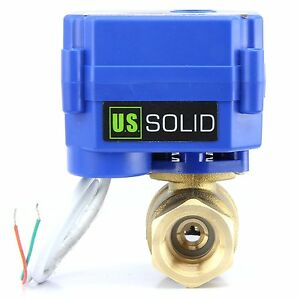 3 4 Motorized Ball Valve Brass 9v 12v To 24v Normally Closed 2 Wire Auto Return