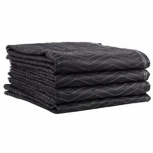 Ultra Thick Pro Moving Blankets Padded Furniture Pads 5 Pack 72 X 80