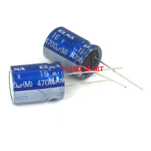 Elna 4700uf 16v Re3 Audio Grade Electrolytic Capacitors 85 10 Pcs 20 Pcs 50pcs